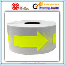 Easy Removable glow in the dark Arrow fluorescent sticker in a roll