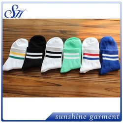 2015 cotton casual socks two jacquard couple of sports short compression socks wholesale