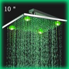 Moda de pressão de água elétrico de controle de temperatura chuveiro com led