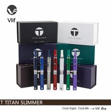 New e dry vaporizer e cigarette vlif T titan slimmer design 2015