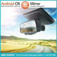 5 Inch Mirror GPS Navigation Garmin+Full HD DVR+Bluetooth+8GB+Av-in