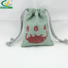 cotton cloth fabric canvas bag with drawstring