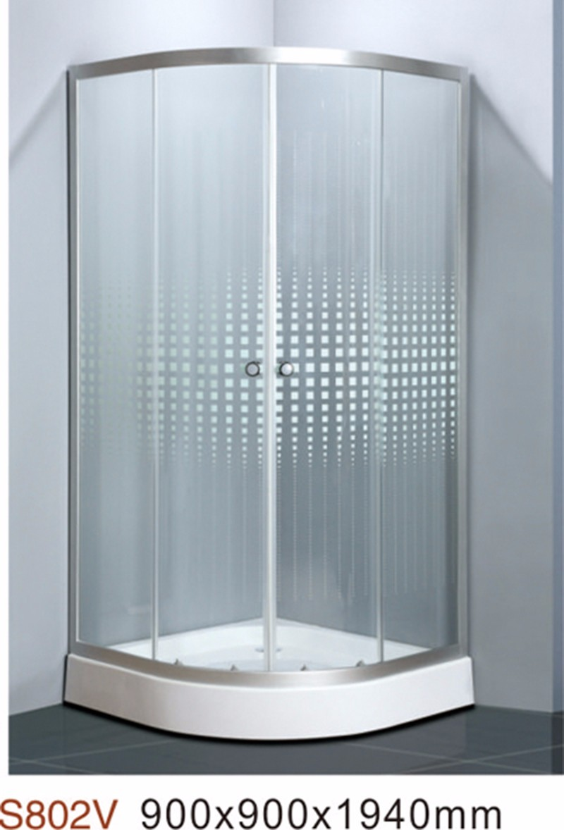 Sector Shape Two Sliding Door Round Glass Shower Cabin - Buy Sector ...