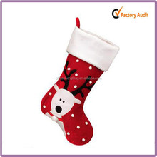Knit pPush Santa Christmas Stockings With Lovely Deer