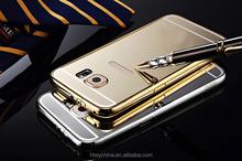 Hot Aluminum Mirror cases for galaxy s6 edge,Luxury Mirror Back Cover Case For samsung galaxy s6 edge aluminum cases