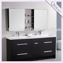 "63"" Modern Espresso Doule Sink Bathroom Vanity GB-W5820"