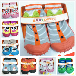 Factory wholesale funny mepiq skidders thick rubber sole cheap baby shoes M5041006