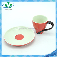 Pretty red cheap white tea cups and saucers