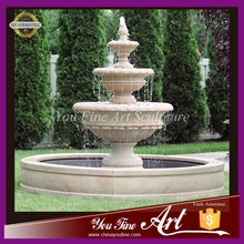 3 tier large water fountain outdoor white marble fountain