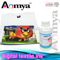 High quality textile ink digital print on cotton T-shirt for Epson printhead