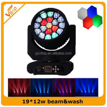 Sharpy Beam Dj Equipment Led Light 19*12w Quad Color Led Wash Moving Head Light for Sale