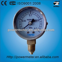 50mm high quality screw type pressure gauge manufacturer piezometer