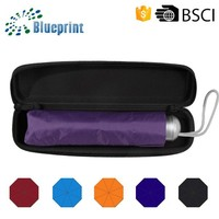 Super Light 3 Folding Corporate Giveaways Gifts Hard Umbrella Case