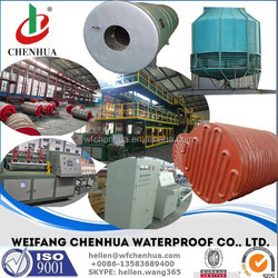 Automatic waterproofing asphalt sheets manufacturing line, SBS production line