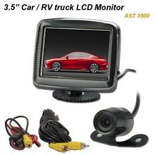 12v 3,5 pollici lcd auto monitor posteriore vista specchietti per le auto sistema di telecamere