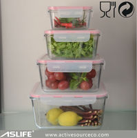 (ASS1155)With Air Tight Locked PP Cover 2L Glass Food Storage Containers Wholesale Prices!Glass Container For Food Storage 2L