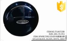 Black color 265-70-R16 SPARE TIRE COVER CHROMED FOR TOYOTA PRADO FJ90 - tyre cover car accessories