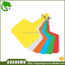 single ear tag with plastic pin TPU animal ear tag for cattle in yellow