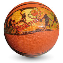 rubber basketball with good bouncing customized basketball