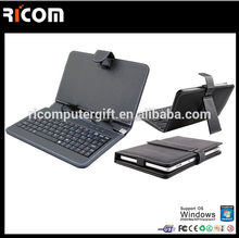 Hot Sale Mini Bluetooth tablet pc case with keyboard,7 inch tablet case keyboard--BK510--Shenzhen Ricom
