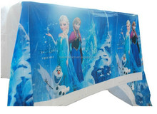 Disposable tablecloth frozen party decoration