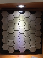 wooden light design mosaic tile for wall and floor decor