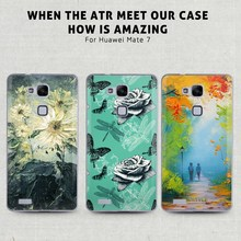 TPU case for HUAWEI mate7 3D Oil painting custom design customized phone protetor