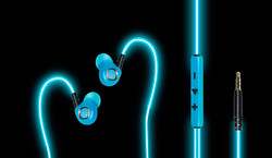 EL Laser Light Glowing headphones,Classic Premium Earbuds with Mic Stereo Headphones | Earphone