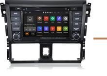 Android 4.4 car dvd gps For TOYOTA VIOS / YARIS Sedan 2013 Third generation Car DVD Radio Stereo GPS Navi 3G WIFI 1024X600
