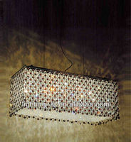 "18 LIGHTS 27"" Rainbow Modern Rectangular Crystal Chandelier CW4101P27C-RC"