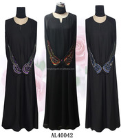 latest new design lady gown abaya muslim abaya big hem long dress AL40042