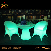 New arrival unique glowing led light cocktail table with rechargeable battery operated