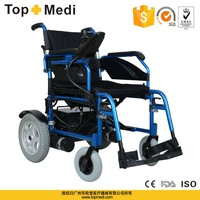 "Rehabilitation Therapy Supplier China tew021 foldable 8"" PU castors 12.5""PU rear wheel electric power wheelchairs"
