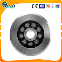 9w 12w Fountain nozzle lamp ac24 stainless steel led RGB underwater jet led fountain light