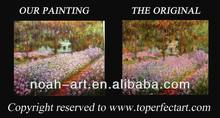 Handmade oil painting pictures of flowers on canvas
