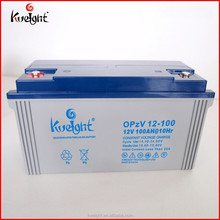 OPzV tubular Gel battery maintenance free 12v 100AH lead acid OPzV battery