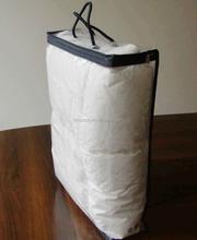 Transparent vinyl zipper bag packaging for pillow cases
