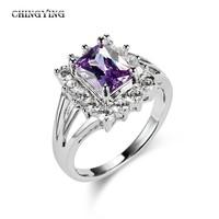 2014 newest high quality fine purple china cz ring