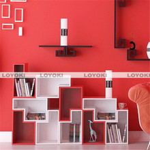 Nice Special Wood Square Wall Cube Shelves tasteful foldable product boxes with ribbon