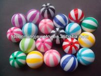 12MM AAA Quality Acrylic Assorted Color Watermelon Strips Beads for Little Girl Chunky Necklace Jewlry