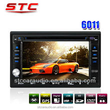 2 din car dvd cheap car dvd player made in China stc-6011