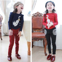 Girls Fall Boutique Clothing 2015 Kids Boutique Style Sets Cat And T shirt And Pants Children