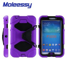 triple protective shock proof tablet case for Samsung tab 3/p3200/3201