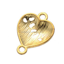 19.3*15mm gold plated diy puzzle heart slide charms wholesale