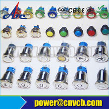 16mm momentary wireless switch push button used in car switch waterproof LED switch