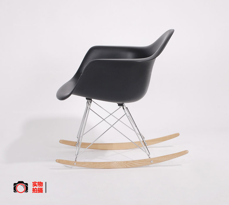 Most Comfortable Modern Rocking Chairs Pp Shell With Wood Base Leisure Chair