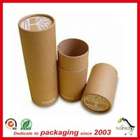 Nature brown paper tube custom kraft cardboard mailing tubes