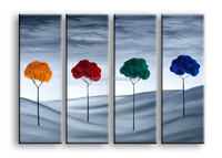 easy linen painting 3 panel