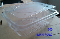 Square plastic strawberry Cherry 500g packaging plastic blister box