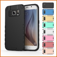 New rugged rubber sim armor robot phone case for s6 edge